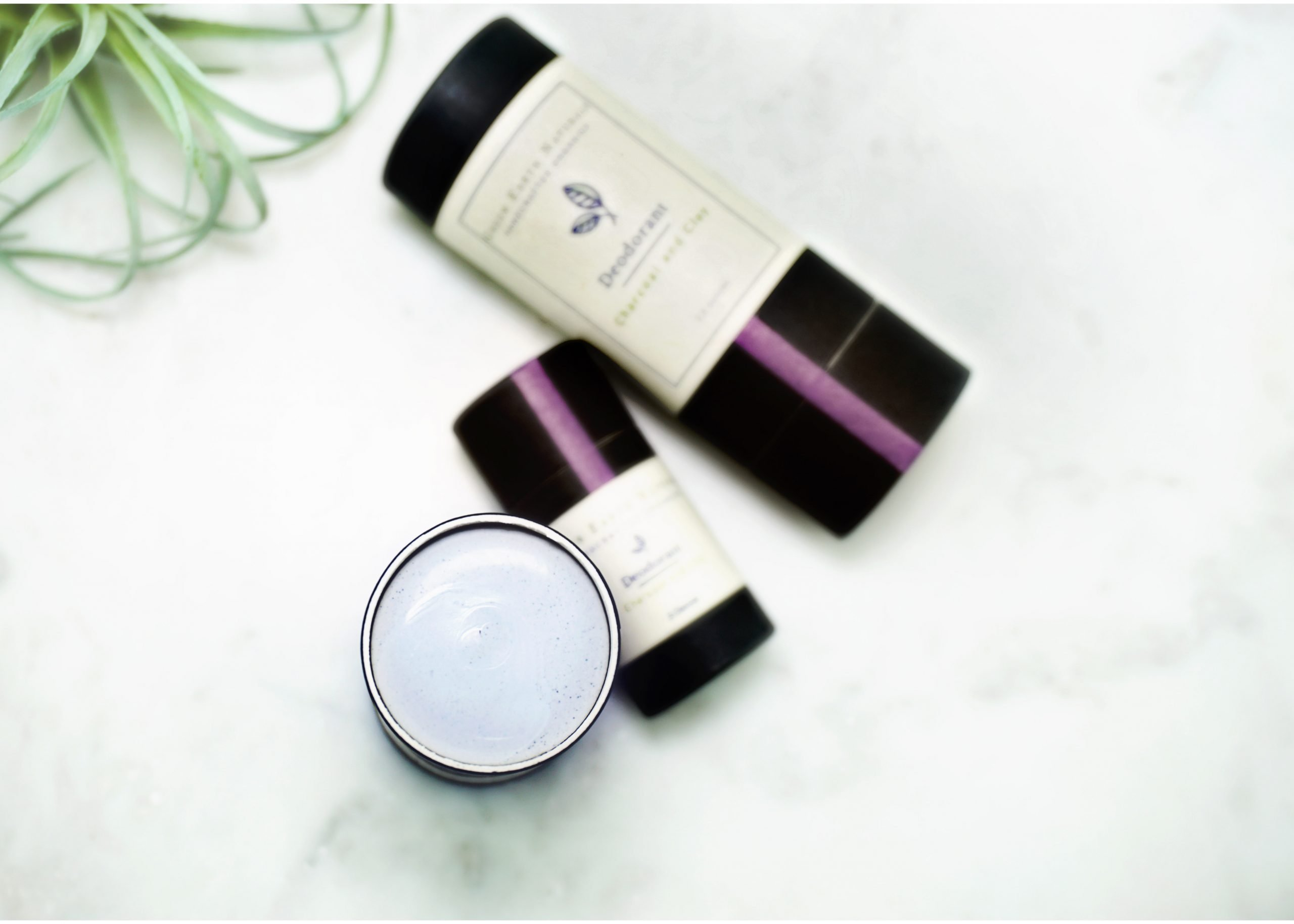 Natural Zero Waste Detox Deodorant with Charcoal and Clay